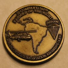 160th SOAR Night Stalkers D Company SOCSOUTH Army Challenge Coin / TF / Airborne