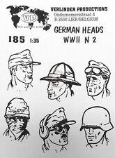 Verlinden 1/35 German Soldier Heads Set No.2 WWII (6 heads) [Resin Figure] 185