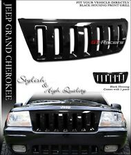 1999-2003 GRAND CHEROKEE GLOSSY BLACK VERTICAL H2 STYLE FRONT HOOD GRILL GRILLE