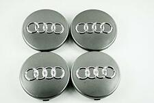 SET OF 4 AUDI ALLOY WHEEL CENTRE CAPS... 60MM