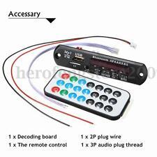 Car Bluetooth MP3 WMA Decoder Board 12V Wireless Audio Module USB TF Radio HOT