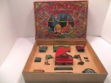 Tootsietoy Doll House Furniture vintage no. 1 the Living Room VG OB with insert