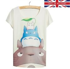 My Neighbour Totoro Print T-Shirt - Size UK 8 - Kawaii Harajuku 01