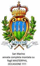 San Marino - 2008- Annata completa nuova MNH - montata su fogli Masterphil