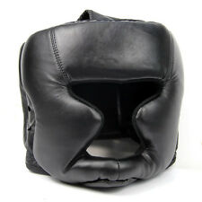 Black Good Headgear Head Guard Training Helmet Kick Boxing Protection Gear ED
