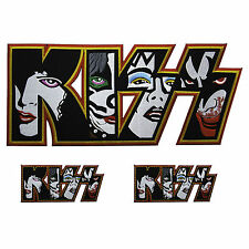 3 Lot KISS Patch Large Rock Music Band Embroidered Iron Hard S Back Metal Simmon