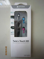 CLiPtec Black ZTOSS Twist + Touch 300 Executive Stylus & Ballpoint Pen SIP300