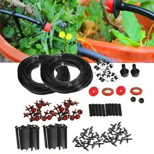 46m Micro Drip Irrigation Self Watering System Kit Set Drippers For Plant Garden