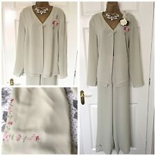 ROMAN TROUSER SUIT SIZE 20 Curve Mother Of The Bride Occasion Embroidered,