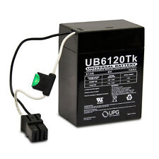 UPG 6V 12AH POWER WHEELS 74522 RED BATTERY REPLACEMENT