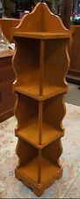 Ethan Allen Style Maple Corner Shelving Rack Serpentine Accents Country Storage