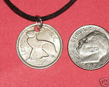 AUTHENTIC CELTIC IRISH IRELAND HARP/ RABBIT  PENDANT COIN CHARM NECKLACE