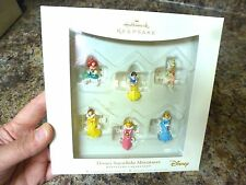 2006 HALLMARK SNOWFLAKE MINIATURES DISNEY PRINCESS CHRISTMAS ORNAMENTS IN BOX