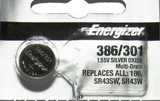 ENERGIZER 301/386 SR43SW SR43W 186 WATCH BATTERY NEW SEALED Authorize Seller