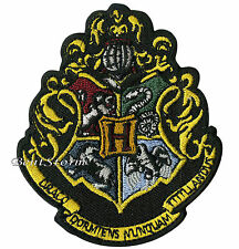 "Harry Potter Hogwarts School Crest Embroidered IRON ON Patch Badge 3 1/4""x2 3/4"""