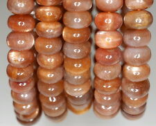 6X3MM SUNSTONE GEMSTONE GRADE AAA RONDELLE 6X3MM LOOSE BEADS 7""