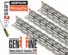 50x Simpson Strong Tie Drywall Plasterboard Thin Coat Steel Galv Angle Bead 2.4M