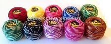 10 Variegated Anchor cotton crochet floss thread ball basic demanding colours