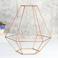 Sass and Belle Geometric Copper Lamp Shade