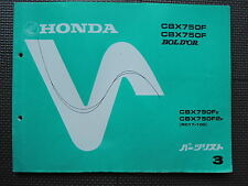 JDM HONDA CBX750F / BOL D'OR E 2F RC17 Original Genuine Parts List Catalog CBX