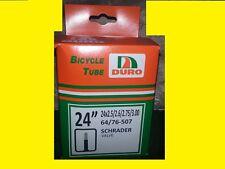 """24""""x3"""" DURO Bike bicycle Tube Schrader 27mm Valve Chopper Rat Rod Cruiser 2.35"""
