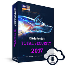 Bitdefender Total Security 2017 | 3 | 1 | año dispositivo licencia ESD