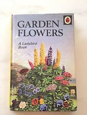 Garden FLOWERS A LADYBIRD Book Vintage Antique 1960 printed In ENGLAND