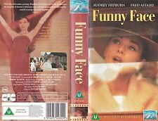 FUNNY FACE VHS PAL FRED ASTAIRE,AUDREY HEPBURN,KAY THOMPSON 50'S NEW BARGAIN