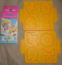 NORDIC WARE cookie cutter set on PLAQUE 8 - BEE BUTTERFLY FLOWER TULIP RABBIT CH