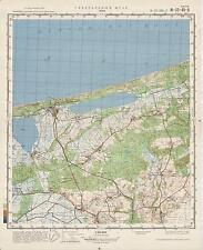 Russian Soviet Military Topographic Maps - LEBA (Poland), ed.1981