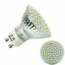 GU10 60 LED 3528 SMD 5W Pure White 6500K High Power Spot Light Lamp Bulb 220V