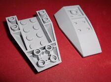 Lego (43713) 2 Keilsteine 6x4x1 invers, in hellgrau aus 7066 8078 9515 75060