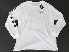 Men's Nike Air Jordan White Tee Shirt Size XXXL 3XL Championship Long Sleeve NWT