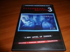Paranormal Activity 3 (DVD, Unrated Director's Cut 2012) Used