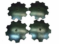 """4 - 18"""" Notched Disc 1"""" or 1 1/8"""" Square Shaft Harrow Bearing Cutting Blade"""