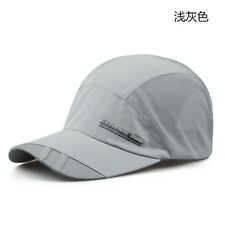 Light Grey Outdoor Visor Quick-drying Cap Baseball Caps Men Women Sport Mesh Hat