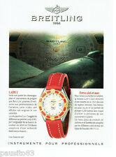 PUBLICITE ADVERTISING 056  1997  la Montre femme Breitling Lady J