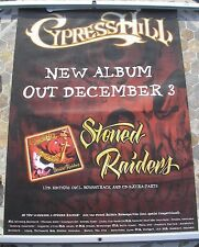 CYPRESS HILL Stoned Raiders LP promo poster 33 x 23 2001