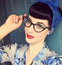 Cat Eye Black Sexy Pin Up Crystals Rockabilly Fashion Ditta Vampy Glasses Frames