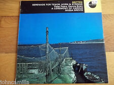 BRITTEN - SERENADE FOR TENOR, HORN & STRINGS - A CEREMONY OF CAROLS LP - ECS 507