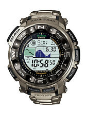 New Casio Protrek Tough Solar Triple Sensor Atomic Titanium Watch PRW2500T-7