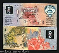 KUWAIT 1 DINAR 1993 POLYMER *REPLACEMENT* CK000091 CAMEL UNC CURRENCY BILL NOTE