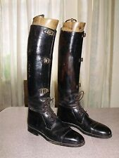 AMAZING VINTAGE HENRY MAXWELL of LONDON BESPOKE RIDING BOOTS CUSTOM MADE sz 9