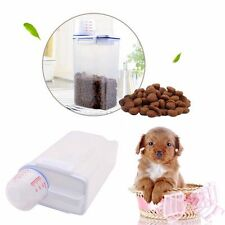 New Pet Food Storage Container Dog Cat Dry Food Dispenser With Cup Pet Supplies