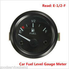 Universal 2'' 52mm DC 12V LED Light Fuel Gauge For Auto Car Motocycle Truck