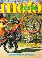 MOTO VERTE  51 YAMAHA XT 500 SUZUKI SP 370 BRUNEAN Alain 50 Trial Tour de France