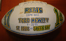 St. Louis Rams Game Used 'First Game Ever' Super Bowl Trophy Football 9/3/95 W@W