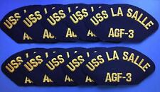 10 Lot Vintage 1990's US Navy USS La Salle AGF-3 Iron On Jacket Hat Patches 227