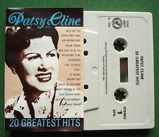 Patsy Cline 20 Greatest Hits inc Crazy & She's Got You + Cassette Tape - TESTED