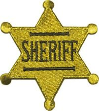 Sheriff Star Badge iron-on / sew-on cloth patch  (cv)
